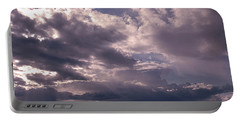Paddleboarder On Puget Sound Portable Battery Charger by Jeff Burgess