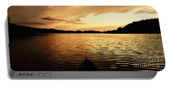 Paddling At Sunset On Kekekabic Lake Portable Battery Charger by Larry Ricker
