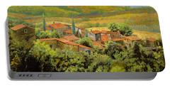 Paesaggio Toscano Portable Battery Charger by Guido Borelli