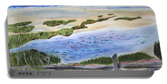 Portable Battery Charger featuring the painting Paines Creek  by Donna Walsh