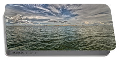 Paint Brush Sky - Ft Myers Beach Portable Battery Charger by Christopher L Thomley