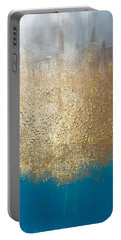 Portable Battery Charger featuring the painting Paint The Sky Gold by Alisha Anglin