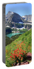 Paintbrush Above Grinnell Lake Portable Battery Charger