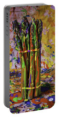 Painted Asparagus Portable Battery Charger