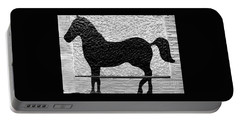 Portable Battery Charger featuring the photograph Painted Black - Stone Pony by Colleen Kammerer