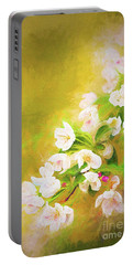 Painted Crabapple Blossoms In The Golden Evening Light Portable Battery Charger