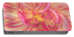 Painted Dahlia Portable Battery Charger