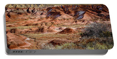 Painted Desert In Winter Portable Battery Charger