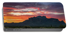 Portable Battery Charger featuring the photograph Painted Desert Skies Over The Supes  by Saija Lehtonen