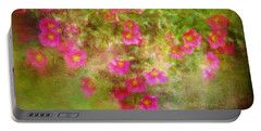 Painted Flowers Portable Battery Charger