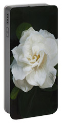 Portable Battery Charger featuring the photograph Painted Gardenia by Phyllis Denton