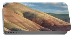 Painted Hill And Clouds Portable Battery Charger by Greg Nyquist