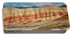Portable Battery Charger featuring the photograph Painted Hills And Afternoon Sky by Greg Nyquist