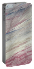 Portable Battery Charger featuring the photograph Painted Hills Textures 3 by Leland D Howard