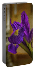 Painted Iris Portable Battery Charger