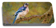 Painted Jay Portable Battery Charger
