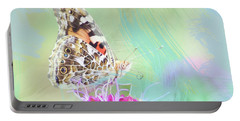 Painted Lady Watercolor Photo Portable Battery Charger