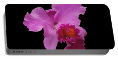 Portable Battery Charger featuring the photograph Painted Orchid by Phyllis Denton