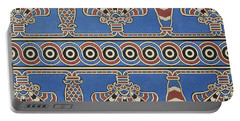 Painted Ornaments From Nimroud, From Monuments Of Nineveh Portable Battery Charger