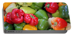 Painted Peppers Portable Battery Charger by Kristin Elmquist