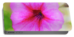 Portable Battery Charger featuring the photograph Painted Petunia 344 by Ericamaxine Price