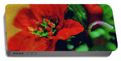 Painted Poinsettia Portable Battery Charger