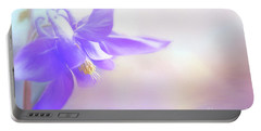 Painted Purple Columbine Portable Battery Charger