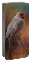 Painted Pyrrhuloxia Portable Battery Charger
