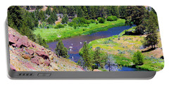 Portable Battery Charger featuring the photograph Painted River by Jonny D