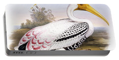 Painted Stork Portable Battery Charger