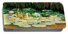 Painted Sunspots Portable Battery Charger by John Lautermilch