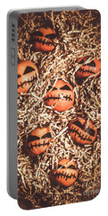 painted tangerines for Halloween Portable Battery Charger
