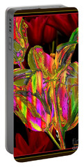 Painted Tulips Portable Battery Charger by Irma BACKELANT GALLERIES