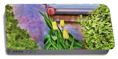 Painted Tulips Portable Battery Charger