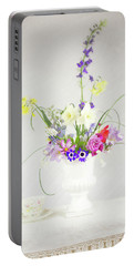 Painterly Homegrown Floral Bouquet Portable Battery Charger