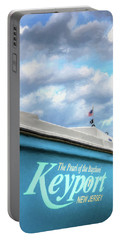 Portable Battery Charger featuring the photograph Painterly Keyport Sailboat by Gary Slawsky