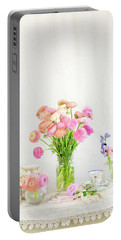 Painterly Ranunculus Tea Time Portable Battery Charger