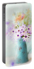 Painterly Spring Daisy Bouquet Portable Battery Charger