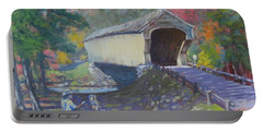 Painting Covered Bridge  Portable Battery Charger