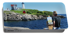 Painting Nubble Lighthouse Portable Battery Charger