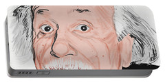 Painting Of Albert Einstein Portable Battery Charger