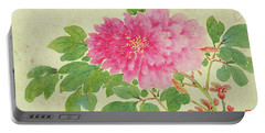 Painting Of Peonies Portable Battery Charger
