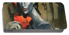 Painting Of The Lady _ 1 Portable Battery Charger by Behzad Sohrabi