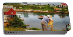 Painting Peggys Cove Portable Battery Charger