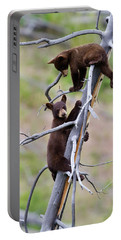 Pair Of Bear Cubs In A Tree Portable Battery Charger