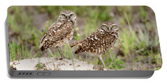 Pair Of Burrowing Owls Portable Battery Charger