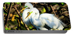 Pair Of Courting Great Egrets Portable Battery Charger
