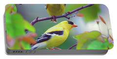 Pair Of Goldfinches Portable Battery Charger