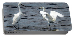 Pair Of Snowy Egrets Portable Battery Charger