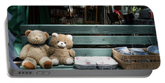 Teddy Bear Lovers On The Banch Portable Battery Charger
